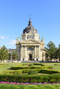 Szechenyi medicinal bath budapest hungary building of Royalty Free Stock Photography