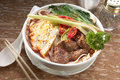 Szechuan beef noodle Royalty Free Stock Photography
