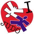 Sztuki emblem i dżudo miłości wojennej Obraz Stock