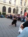 Tänzer bukarest geburtstag Lizenzfreie Stockfotografie