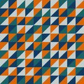 Seamless vector pattern with orange triangles.