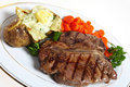 T-bone steak dinner Stock Photo