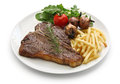 T-bone steak,porterhouse steak,bistecca alla fiorentina Royalty Free Stock Photo