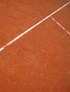 The t lines in a tennis court outside Royalty Free Stock Photo