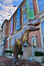 T rex in philadelphia outside of the franklin instutue Royalty Free Stock Image