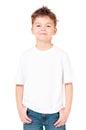 T-shirt on boy Royalty Free Stock Photo