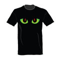 T-shirt with cat eye on it illustration
