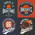 T-shirt design for basketball fans for usa new york brooklyn street team, knights college team and chicago raiders