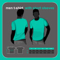 T-shirt men back and front. Royalty Free Stock Photo