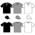 T-shirt men's and baseball cap Royalty Free Stock Images