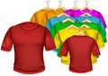 T shirt multicolored the isolated on the white background for your creativity drawings logos text etc Stock Images