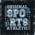 T-shirt  sports, original emblem, athletic leisure Royalty Free Stock Photo