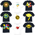 T Shirt Templates Royalty Free Stock Image
