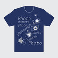 T-shirt with their cameras and words, Photo, photography, photographer.
