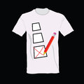 T shirt with ticking illustration art Stock Photos