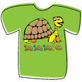 T-shirt with a turtle on white
