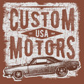 T-shirt typography design, retro car vector, printing graphics, typographic vector illustration, vintage car graphic design for la Royalty Free Stock Photo