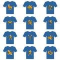 T-shirt of zodiac Stock Photos