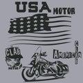 stock image of  T-shirts in american,motor,clab, t-shirts, graphic design, origi