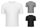 T shirts blank white grey and black Royalty Free Stock Images
