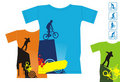 T-shirts with extreme sports 3 Royalty Free Stock Photo