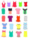 T shirts and tank tops set of female summer Royalty Free Stock Photography