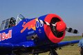 T texan red bull the was a single engine advanced trainer aircraft designed by north american aviation used to train fighter Stock Photography