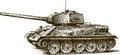 T-34 Royalty Free Stock Photo