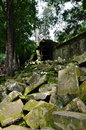 Ta prohm temple in angkor wat complex siem reap cambodia Stock Photography
