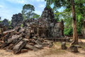 Ta som temple ruins ancient in siem reap Royalty Free Stock Images