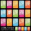 Tab icons on black, set 1 Royalty Free Stock Photo