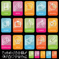 Tab icons on black, set 2 Royalty Free Stock Photo