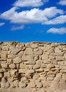 Tabarca island battlement fort masonry wall detail in spain Stock Images