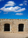 Tabarca island battlement fort masonry wall detail in spain Stock Photography