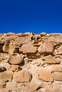 Tabarca island battlement fort masonry wall detail in spain Royalty Free Stock Image