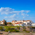 Tabarca island streets in alicante valencian community spain Royalty Free Stock Photography