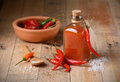 Tabasco sauce in the bottle Royalty Free Stock Photo