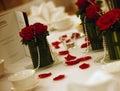 Tabela ślub Zdjęcia Royalty Free