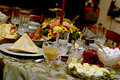 Tabela da refeição do feriado Imagem de Stock