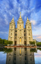Tabernacle in temple square Royalty Free Stock Photo