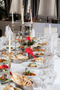 Table arrangement a in a luxury hotel Royalty Free Stock Photography