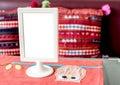 Table blank menu Royalty Free Stock Photo