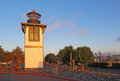 Table bluff lighthouse in eureka california the for humboldt bay at woodley island marina Stock Images