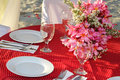 Table center piece table decoration wedding Stock Photography