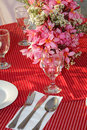 Table center piece table decoration wedding Royalty Free Stock Photo