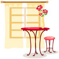 Table and chair Royalty Free Stock Photo