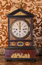 Table clock from cent in palace saint anton slovakia february Royalty Free Stock Photography
