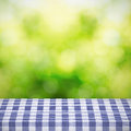 Table cloth and nature background Stock Photography