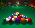 Table de billard dans le club Image libre de droits