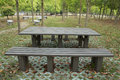 Table de parc Image libre de droits